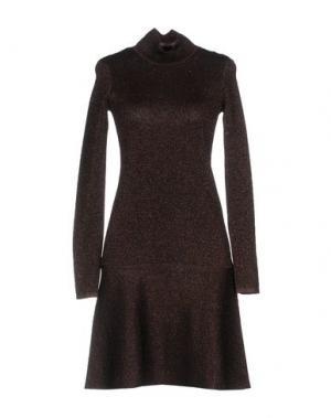 Короткое платье SECOND FEMALE. Цвет: темно-коричневый