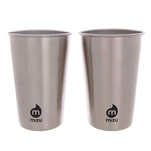 Стакан  Party Cup Set Stainless W Black Print Mizu. Цвет: серый