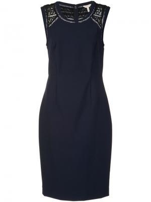 Classic fitted dress Rebecca Taylor. Цвет: синий
