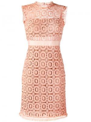Ажурное приталенное платье Essentiel Antwerp. Цвет: розовый и фиолетовый