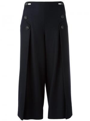 Укороченные широкие брюки Cédric Charlier. Цвет: синий