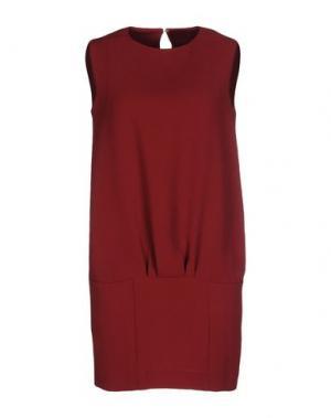 Короткое платье INTROPIA. Цвет: красно-коричневый