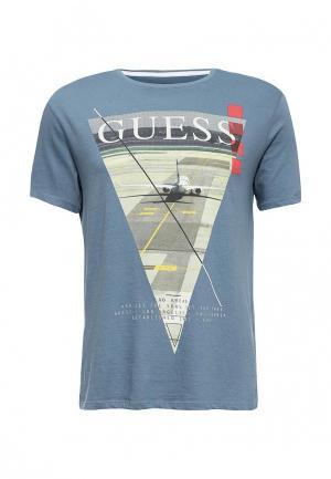 Футболка Guess Jeans. Цвет: синий