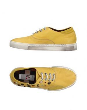 Низкие кеды и кроссовки YAB. Цвет: желтый