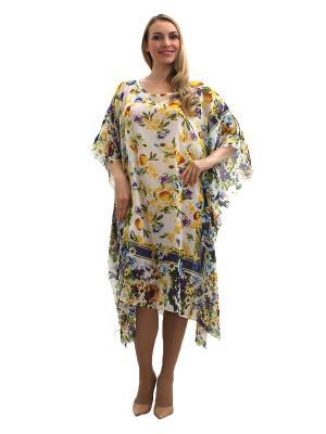 Платье - туника Lorentino. Цвет: белый