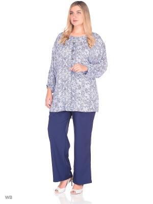 Блузка MASTERITSA NEW CLASSIC. Цвет: темно-синий, голубой