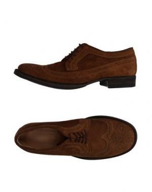 Обувь на шнурках 01000010 BY BOCCACCINI. Цвет: хаки
