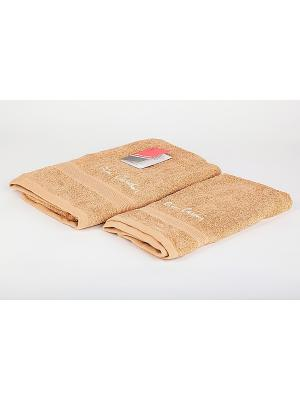Комплект полотенец 2 предмета (50х90, 70х140) Pierre Cardin La Pastel. Цвет: светло-коричневый