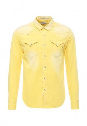 Рубашка Replay. Цвет: желтый