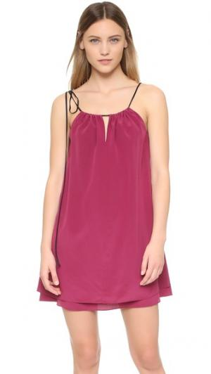 Платье Samantha Rag & Bone. Цвет: красный сливовый