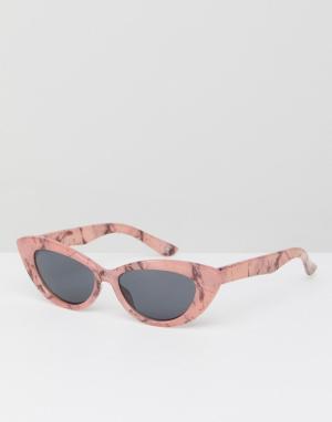 ASOS Солнцезащитные очки кошачий глаз. Цвет: розовый