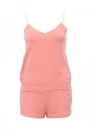 Пижама oodji. Цвет: розовый