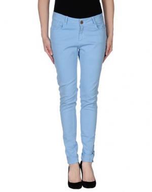 Повседневные брюки YERSE. Цвет: небесно-голубой