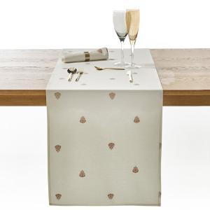 Дорожка столовая с рисунком, WIDAS La Redoute Interieurs. Цвет: белый/розовое золото