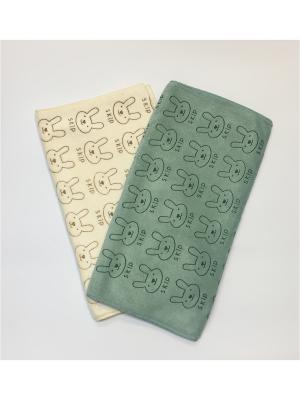 Набор полотенец A and C Collection. Цвет: бежевый, зеленый