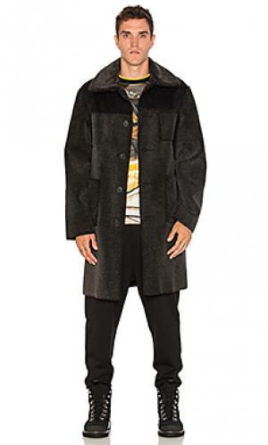 Замшевое пальто Opening Ceremony. Цвет: черный