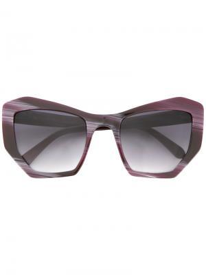 Солнцезащитные очки геометрической формы Prism. Цвет: розовый и фиолетовый