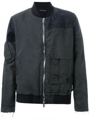 Куртка на молнии Longjourney. Цвет: чёрный