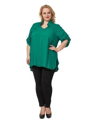 Блузка ELEGANZA. Цвет: зеленый
