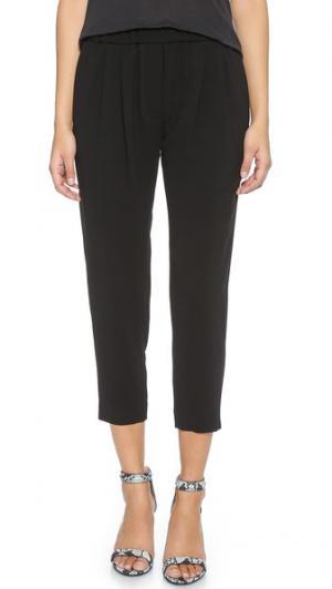 Укороченные брюки с напуском Nili Lotan. Цвет: голубой