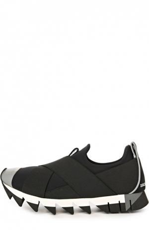 Кроссовки Ibiza на рельефной подошве Dolce & Gabbana. Цвет: черный