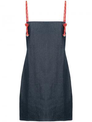 Короткое платье Rigging Vale. Цвет: синий