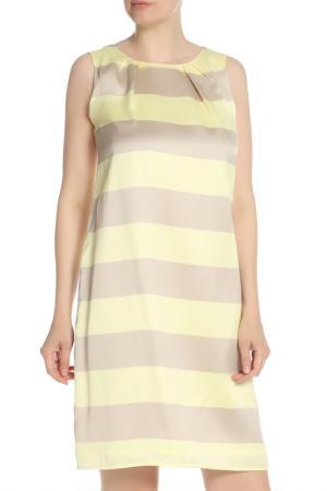 Платье без рукавов в горизонтальную полоску OUI. Цвет: мультиколор