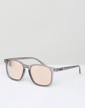 Quay Eyewear Серые квадратные солнцезащитные очки с зеркальными стеклами Austr. Цвет: серый