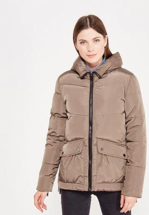 Куртка утепленная Твое. Цвет: коричневый