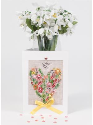 Набор для создания открытки С любовью Матренин Посад. Цвет: красный, зеленый