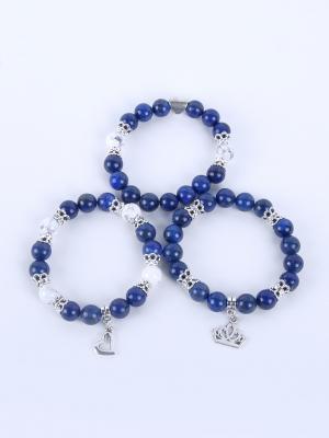 Браслет Jana Duff М6644 цвет синий, серебряный. Цвет: синий