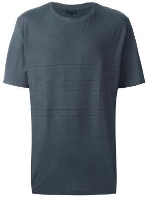 Классическая футболка Lanvin. Цвет: серый
