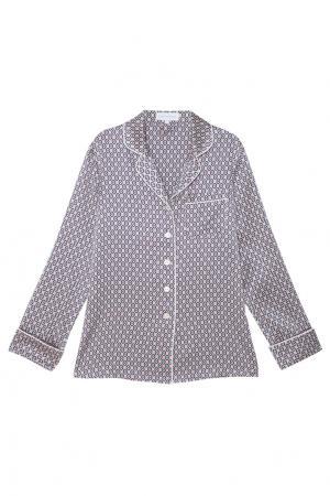 Шелковая пижама Lila Olivia von Halle. Цвет: пудрово-розовый
