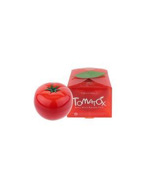 Осветляющая крем-маска для лица с экстрактом томата, 80г, Tony Moly. Цвет: белый