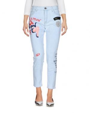 Джинсовые брюки MR & MRS Italy. Цвет: синий