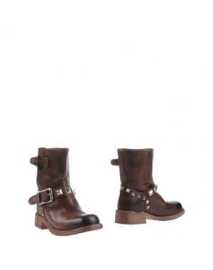 Полусапоги и высокие ботинки MR. WOLF. Цвет: какао