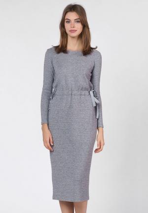 Платье OKS by Oksana Demchenko. Цвет: серый