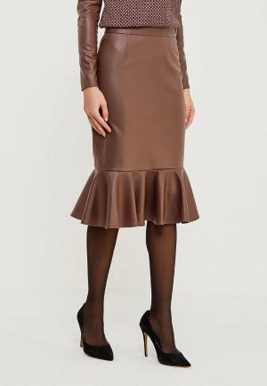 Юбка MARI VERA. Цвет: коричневый