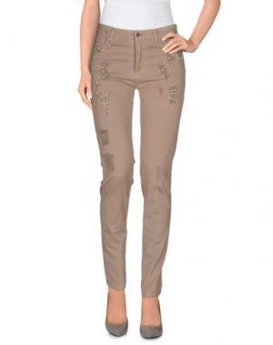 Повседневные брюки LIST. Цвет: голубиный серый