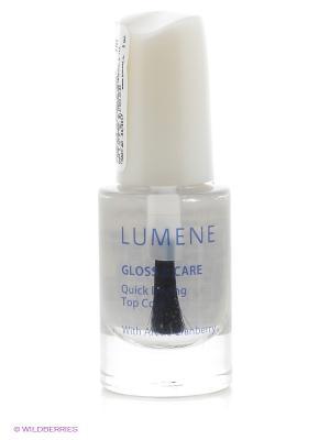 Быстросохнущее покрытие для закрепления лака Lumene Gloss & Care 3в1, 5 мл. Цвет: прозрачный