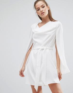 C/meo Collective Платье Caught Up. Цвет: белый