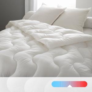 Одеяло синтетическое с чехлом из натурального материала, высокое качество BEST. Цвет: белый