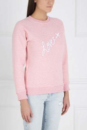 Хлопковый свитшот Girls In Bloom. Цвет: розовый