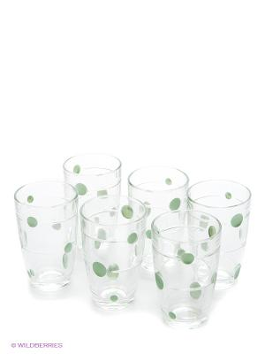 Набор стаканов, 6 предметов LORAINE. Цвет: прозрачный, зеленый