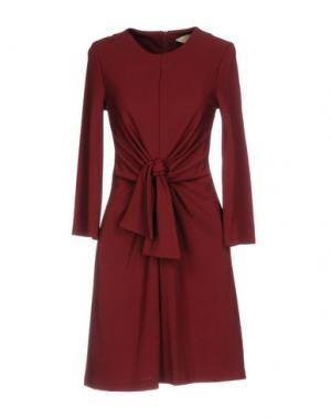 Короткое платье KAOS JEANS. Цвет: красно-коричневый