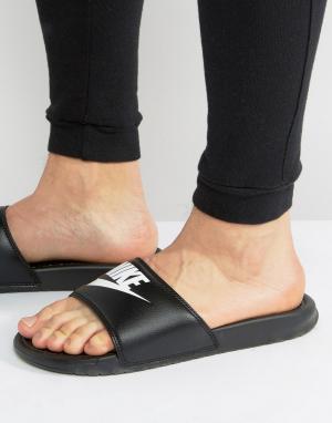Nike Черные шлепанцы Benassi JDI 343880-090. Цвет: черный