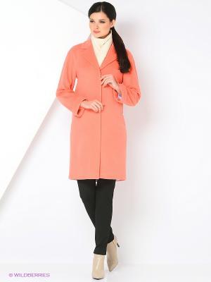 Пальто PAROLE by Victoria Andreyanova. Цвет: коралловый