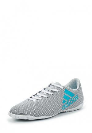Бутсы зальные adidas Performance. Цвет: серый
