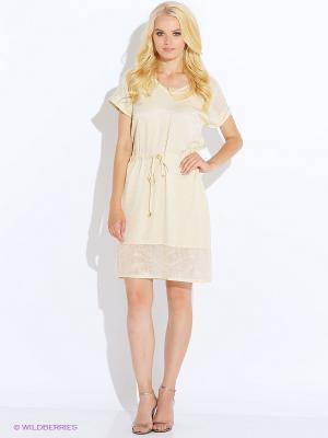 Платье Oky Coky. Цвет: молочный