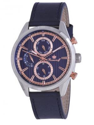 Часы наручные Romanoff. Цвет: темно-синий, золотистый, серебристый